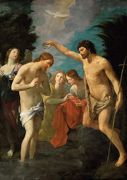 Johannes döparen döper Jesus