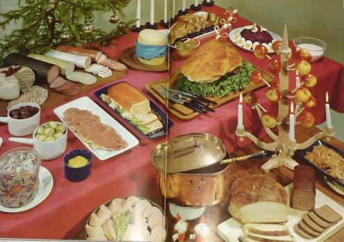 Julbord 1960 - ur Bonniers kokbok