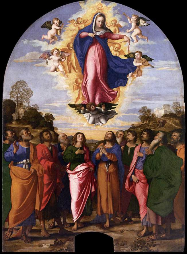 Palma_il_Vecchio_-_Assumption_of_Mary_-_WGA16930
