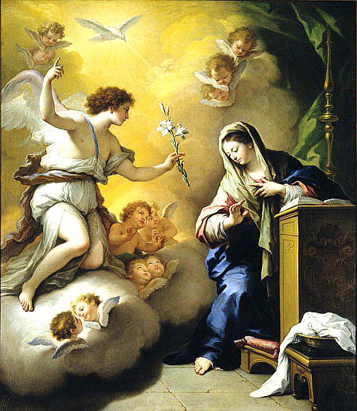 Målning av Paolo de Matteis
